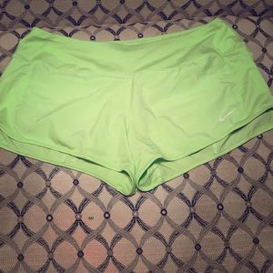 ⭐️ NIKE Light lime green running shorts